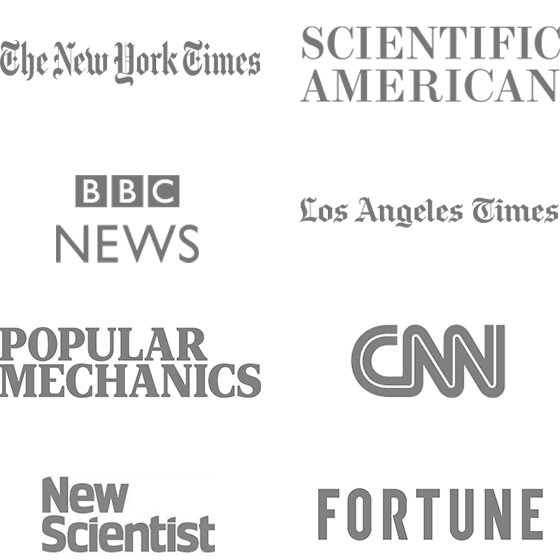 New York TImes, Scientific American, BBC News, LA Times